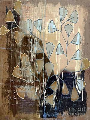 Variation Digital Art - Be-leaf - Beige A05t3a by Variance Collections