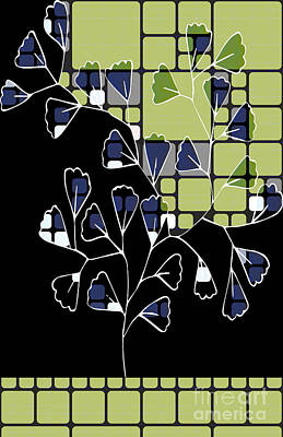 Variation Digital Art - Be-leaf - Green 02ab03 by Variance Collections