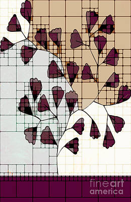 Variation Digital Art - Be-leaf - Prune 01-ab103b by Variance Collections