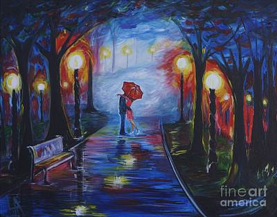 Nightime Painting - Be Mine by Leslie Allen