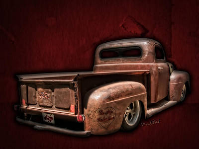 Be My Valentine Digital Art - Be My Valentine On The Rat Rod Of Love by Chas Sinklier