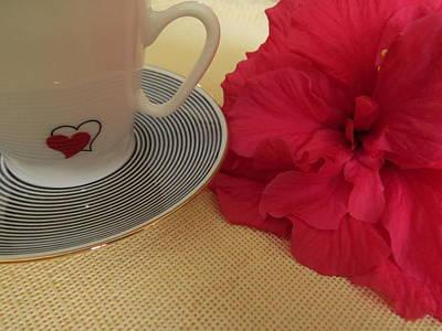 Hibiscus Photograph - Be My Valentine by Zina Stromberg