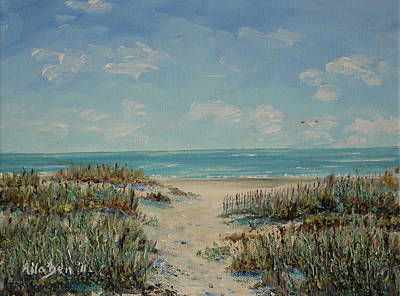 Beach Access Print by Stanton Allaben