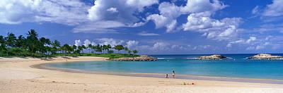 Ko Photograph - Beach At Ko Olina Resort Oahu Hawaii Usa by Panoramic Images