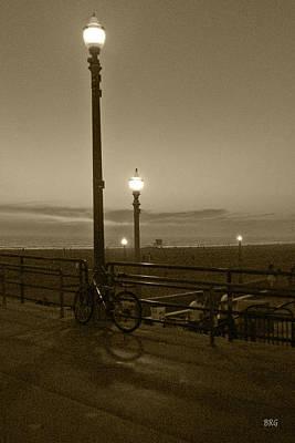 Bike Photograph - Beach At Night by Ben and Raisa Gertsberg