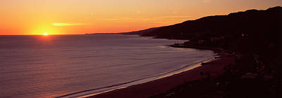 Beach At Sunset, Malibu Beach, Malibu Print by Panoramic Images