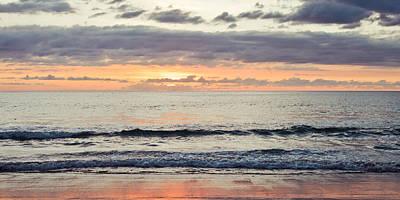 Beach At Sunset Print by Tom Gowanlock