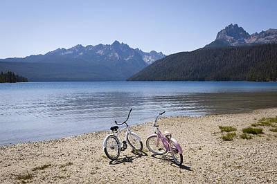 Horizontal Photograph - Beach Bikes by Steve Smith