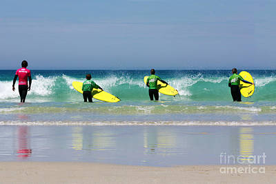 Beach Boys Go Surfing Print by Terri Waters