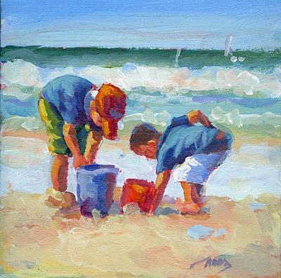 Baseball Cap Painting - Beach Boys  by Lucelle Raad