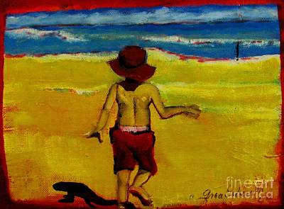 Garden Scene Mixed Media - Beach Brothers 2 by Grace Liberator