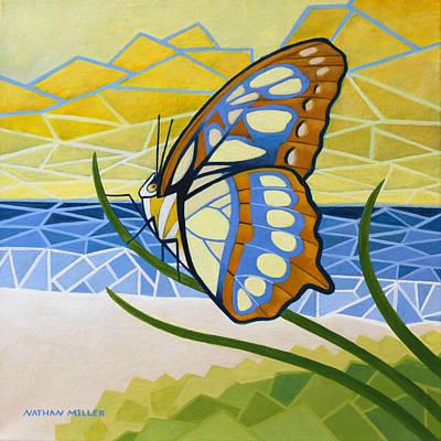 Beach Butterfly Original by Nathan Miller