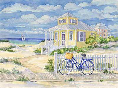 Sailboat Ocean Painting - Beach Cruiser by Paul Brent