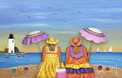 Beach Date Print by Anne Klar