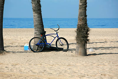 Beach Cruiser Photograph - Beach Day by Art Block Collections