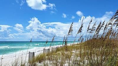 Beach Days On Pensacola Beach Print by JC Findley