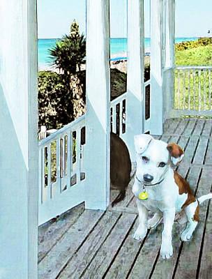 Beach Digital Art - Beach Dog 1 by Jane Schnetlage