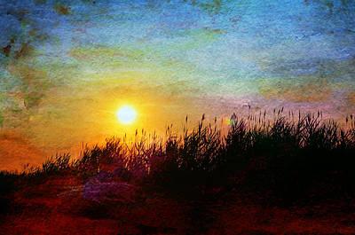Beach Dune Sunset Print by Laura Fasulo