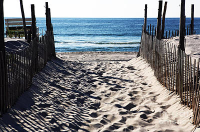 Footprints Photograph - Beach Entry by John Rizzuto