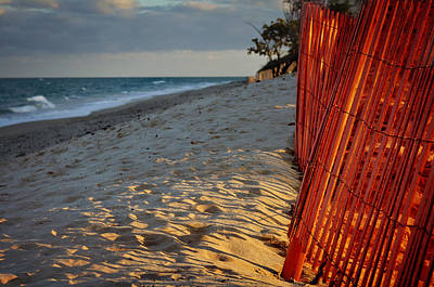 Beach Fence Print by Laura Fasulo