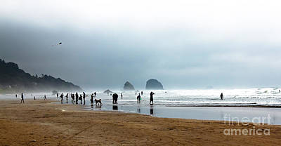 Beach Fun At Ecola  Print by Robert Bales