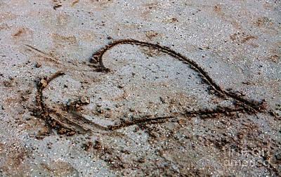 Beach Heart Print by John Rizzuto