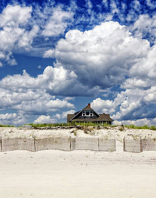 Bluesky Photograph - Beach House by Vicki Jauron