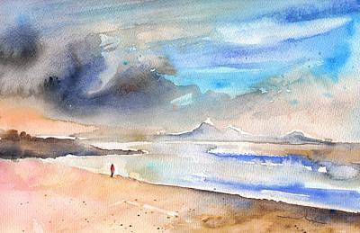 Lanzarote Painting - Beach In Lanzarote by Miki De Goodaboom