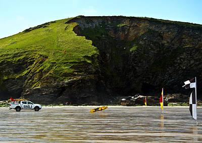Surf Photograph - Beach Lifeguard Flags by Paul Howarth