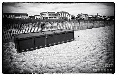 Beach Locker Print by John Rizzuto