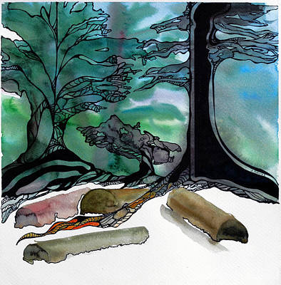 Tree Roots Painting - Beach Magic by Jodi Forster