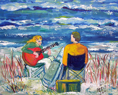 Beach Music Print by Patricia Taylor