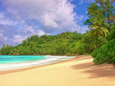 Mauna Kea Painting - Beach Near Hanalei Kauai by Dominic Piperata
