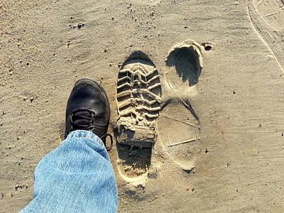 Beach Of Big Feet Print by Lon Casler Bixby