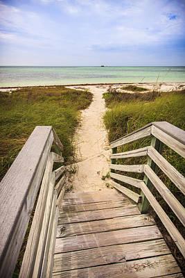 Beach Path Print by Adam Romanowicz