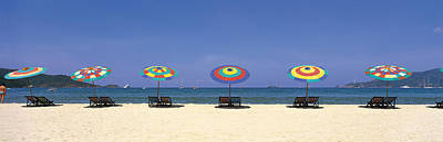 Empty Chairs Photograph - Beach Phuket Thailand by Panoramic Images