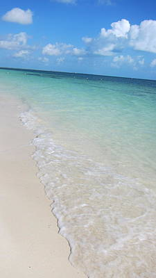 Beach Playa Mujeres Print by Paula Brown