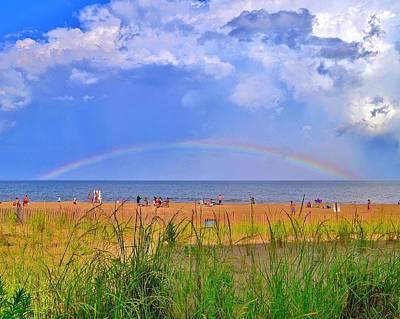 Beach Rainbow - Rehoboth Beach Delaware Print by Kim Bemis