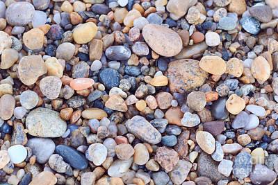 Beach Rocks Print by Katherine Gendreau