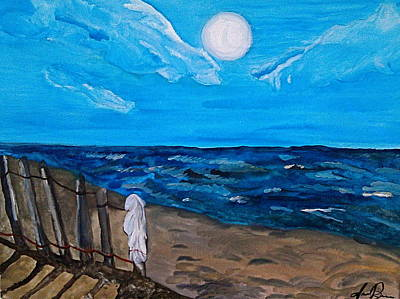 Jana Painting - Beach Scene Copy by Jana Barros