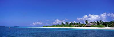Sunbathers Photograph - Beach Scene Maldives by Panoramic Images