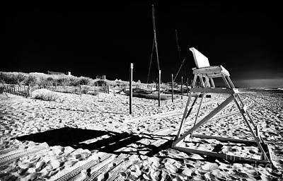 Empty Chairs Photograph - Beach Shadows by John Rizzuto