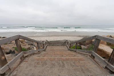 Beach Stairs Print by Tanya Harrison