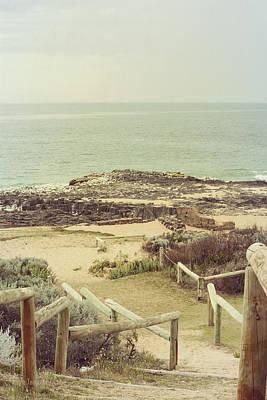 Beach Steps Print by Elaine Teague