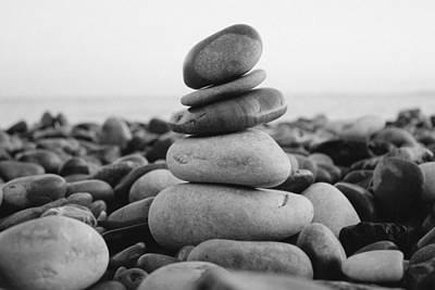 Beach Stones - 3 Print by Jane M