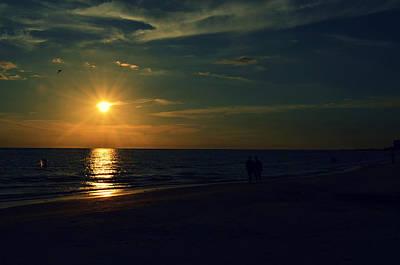 Beach Sunset Afternoon Walk Print by Patricia Awapara