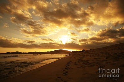 Beach Sunset Print by Cheryl Young