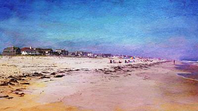 Beach Town Print by Laura Fasulo
