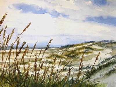 Painting - Beach Watercolor 3-19-12 Julianne Felton by Julianne Felton