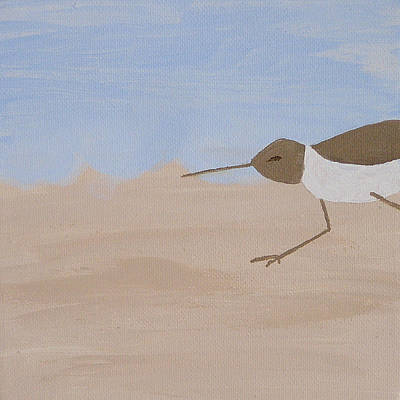 Grande Painting - Left - Beachcombers Trio by Debbie Kiewiet